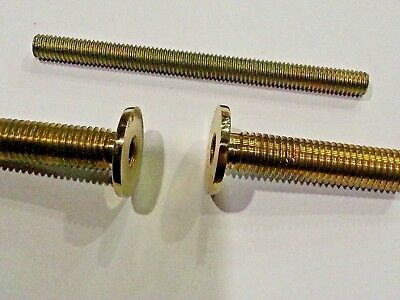 1 x Connector Joint for Walking Stick Making FLANGED Brass Screw-Thread 3 Parts