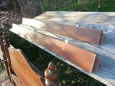 Old Walnut Bed 1890 ?  Old Wood Single Bed Hand Made 12