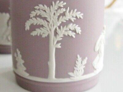 Antique / Vintage Lilac Wedgwood Jasperware Cupid Mythology Demitasse 4 Cup Set 8