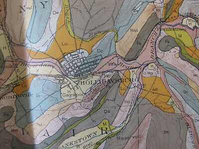 Color Soil Survey Map Johnstown Pennsylvania Portage Lilly Hollidaysburg PA 1907 4