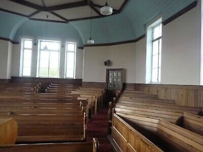 Old Vintage Antique Ornate Church Pews Large Bench Pitch Pine Dining Table Seats 5
