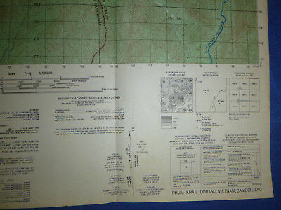 6437 i - LAOS - VIETNAM - CAMBODIA - US WAR MAP - 1970 - Plei Trap Valley - MACV