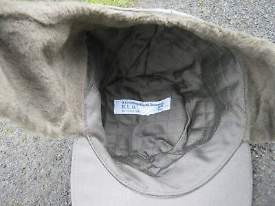 73ed27a391f ... Dutch Army Cold Weather Cap Trapper Hat Olive Green Fur lined Military  Surplus 4