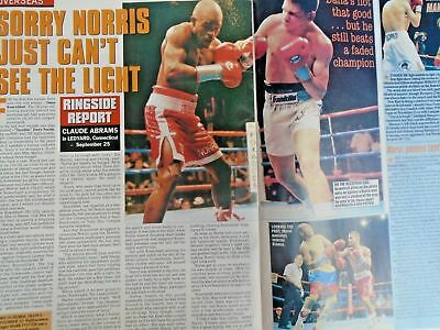 BOXING NEWS - 2nd oct 1998 - herbie, paul, lewis holyfield, naz free p&p to uk 9