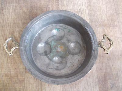 schöne  alte Kupfer Pfanne,Kupferpfanne,Eierpfanne,Schneckenpfanne,Pfanne 5