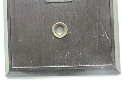 Hemco USA Switch Wall Plate Cover Fine Lines Ribs Brown Bakelite Antique 6