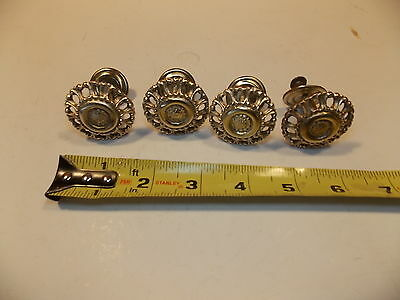 One Antique Brass knob (four available) 3