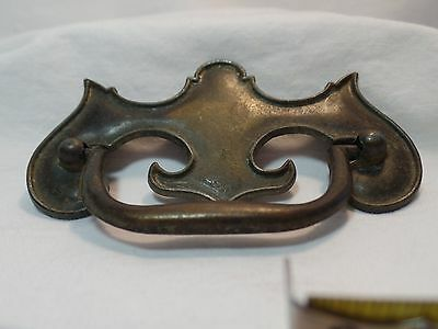 Vintage Drawer Pull Brushed Brass 2