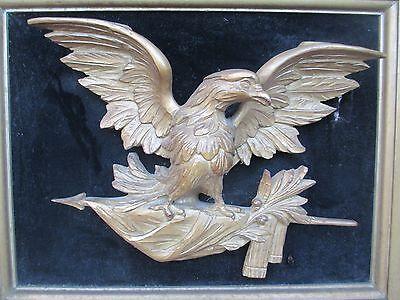Antique Carved Wood Eagle FOLK ART 7