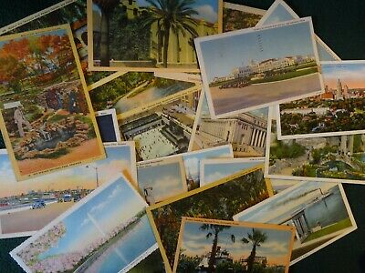 LOT OF 50  VINTAGE POSTCARDS ,USED AND UNUSED .1900s - 1960s 👀 USA CARDS ONLY 8
