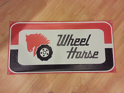 VINTAGE WHEEL HORSE TRACTOR BANNER