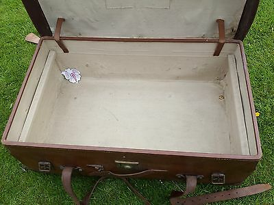 1920s Leather Steamer Trunk 7