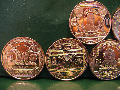 """3 Rounds /""""$10 Buffalo Banknote/"""" 1 oz .999 Copper Round"""
