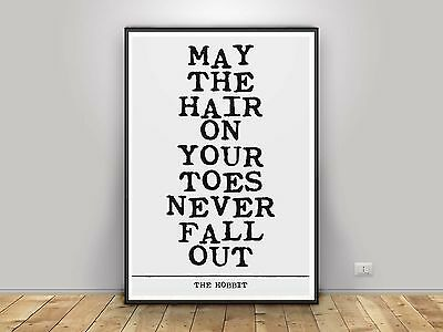 J.R.R TOLKIEN The Hobbit typography book quote poster print inspirational #139