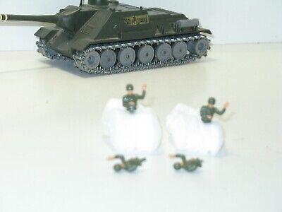 soldat militaire char SU 100 petit téton SOLIDO 1 CHEF DE CHAR en métal peint