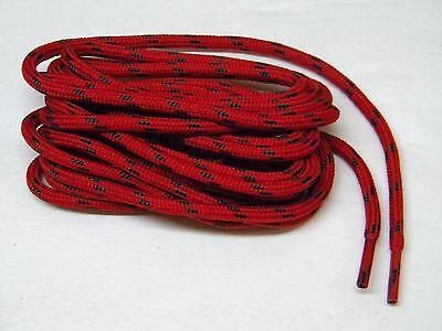 1 Pair Black w// Black Kevlar 7//32 Round Heavy Duty Reinforced Boot shoelaces