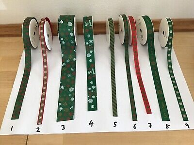 Decorative Ribbon Christmas Ribbon Various Selection  Sold by the metre 2