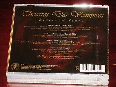 Theatres Des Vampires: Blackened Years - Bloody, Anno, Suicide 4 CD Box Set NEW 2