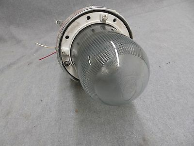 Vtg Industrial Sealed Hazardous Area Light Fixture Old Factory Steampuk 11-16 3