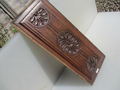 "Antique Wooden Panel Plaque Sign Vintage Old Floral Flowers Victorian 19""x7"" 6"