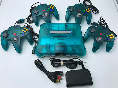 Choose Nintendo 64 Console Color + Up to 4 Controllers + Cords!  CLEANED N64! 5