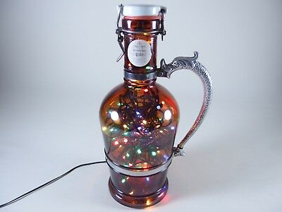 Flaschen Lampe Ratskeller Pils Krug rustikal Tischlampe mit 120 LED´s ww+MC 11