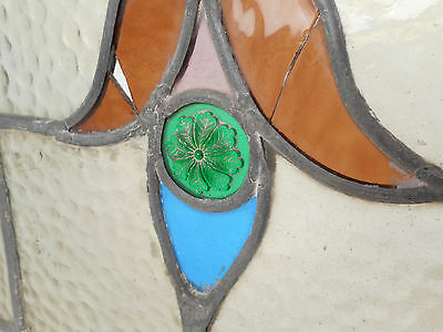Vintage Stained Glass Window Panel (3143)NJ 7