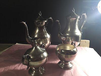 Vintage Coffee Tea Silverplate 5pc Set 2