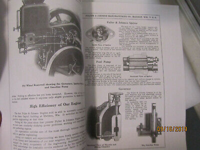 1910 Fuller&Johnson Double Efficiency Gasoline Engines Catalog, all sizes 4