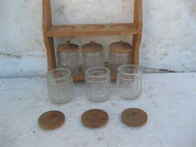 especiero de cristal con soporte de madera 2
