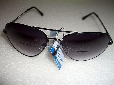 f78ca6eac9 ... Bifocal Aviator Sunglasses Reading Glasses Spring Hinge Men  Women 1.25  To 2.75 7