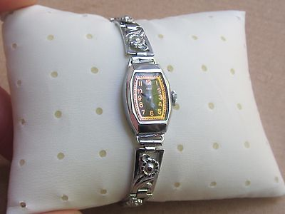 "WOW! NOS Art Deco Swiss Ladies'watch ""AXA""15j, -30s 9"