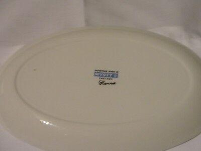Vintage floral china serving platter 8