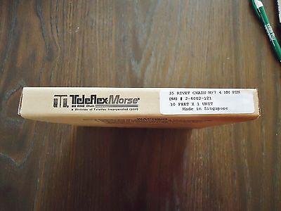 """New Teleflex Morse 35 Rivet Chain W/7.4 Mm Pin Dwg# 2-6002-12 10"""" X 1 Unit 2"""