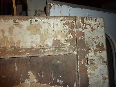 """LATE 18th century ANTIQUE colonial FOUR panel DOOR paint PATINA 78 x 35"""" x 1.25 5"""