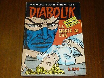 Diabolik Anno Vi Numero 24 Con Adesivi Astorina 1967 Originale - Ottimo !! 3