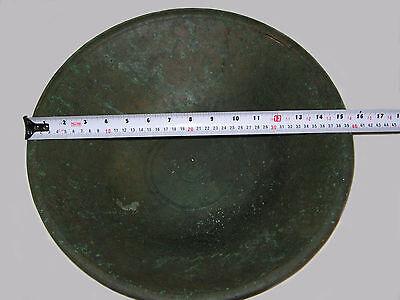 """UNIQUE VERY RARE LARGE ANCIENT BRONZE ROMAN/BYZANTINE/THRACIAN BOWL 16""""  (41 cm) 3 • CAD $4,920.00"""