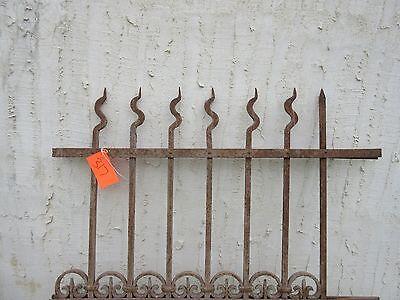 Antique Victorian Iron Gate Window Garden Fence Architectural Salvage Door #317 2