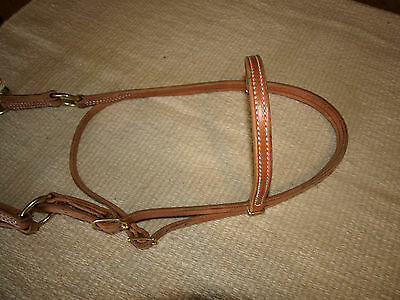 Western harness leather double rope side pull USA natural custom cowboy  H4005 3