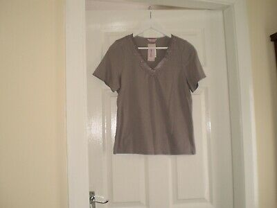 """Blouse""""Per Una"""" M&S Sleepwear Grey Colour Size:14 ( UK ) New With Tags 2"""