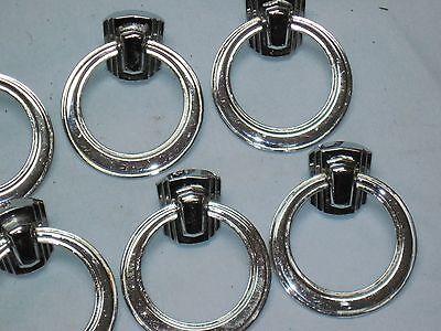 VINTAGE ART DECO Antique DRAWER DRESSER Handles Pulls Chromed Brass 4