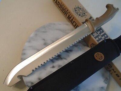 "Colombian Warrior Raptor Machete Sword Knife Saw Hook Full Tang 3234 3Cr13 18"" 7"