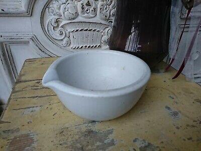 schwerer englischer antik Apotheker Salben Tiegel UNGUENT Porzellan 3
