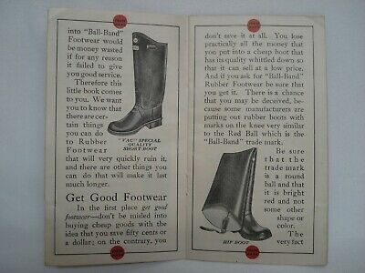 1930'S Ball Band Rubber Footwear Sales Catalog Booklet Mishawaka Woolen 4