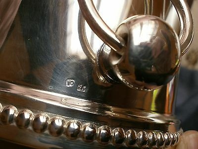 """Seau à glaçons / rafraichissoir à 1/2 bouteille - Métal argenté modèle """" Perles"""