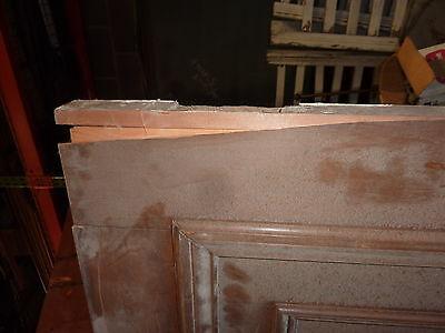 """c1902 antique MAHOGANY door BEAUX ARTS mansion 81.5 x 24 x 1.75"""" original FINISH"""