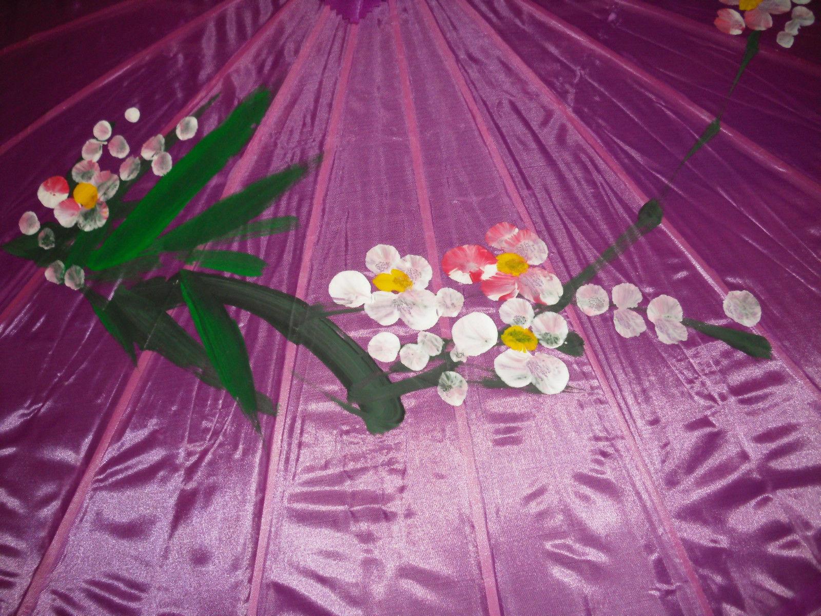 Joblot of 10 Chinese Silk & Bamboo Umbrella Parasol New Wholesale 5