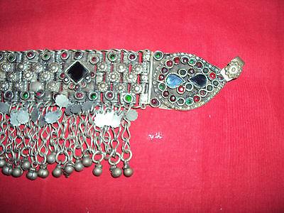 Gorgeous Antique Greek Silver Head Necklace Rare Folk Wear Origin Balkans Old 6