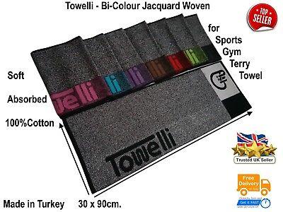 Bi-Color, TOWELLI Sports Gym Towel, 100%Cotton Jacquard, with New Colours 7