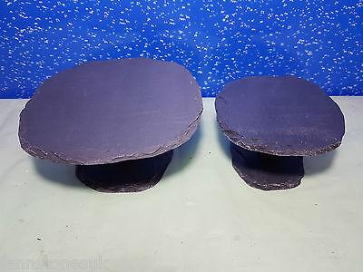 Fennstones natural slate stone rock toadstool shelter cave vivarium aquarium 2